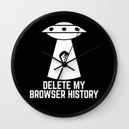 Delete my browser history Wall Clock
