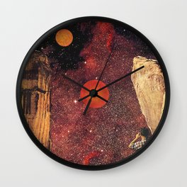 August Astronomy Wall Clock