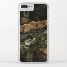 Thoughtful and Deep - Mushrooms in Forest I Clear iPhone Case