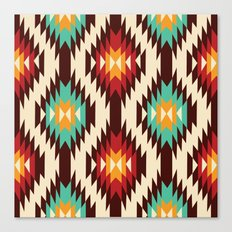 American native Pattern No. 19 Canvas Print