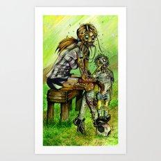 Zombie Soccer Mom Art Print