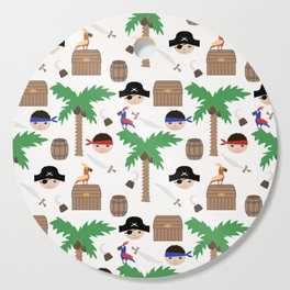 Seamless pirate colorful kids retro background pattern Cutting Board