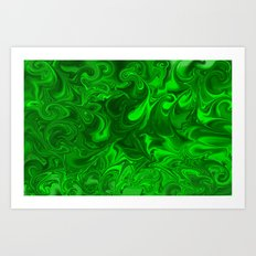 acid swirls  Art Print