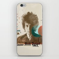 dylan iPhone & iPod Skins featuring Bob Dylan by Azlif