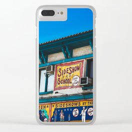 Coney Island Freak Show Clear iPhone Case