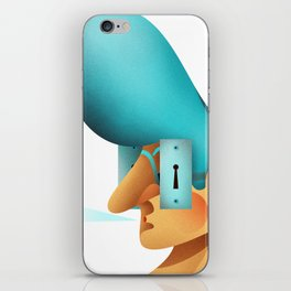 Malice is in the eye of the beholder iPhone Skin