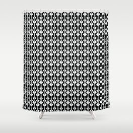 Bold & Funky Black & White Shower Curtain