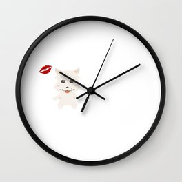 I Kissed A Westie And I Liked It Cute Dog Kiss Gift Idea Wall Clock