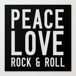 Peace Love Rock & Roll Canvas Print