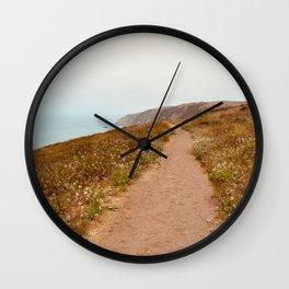 Hiking Point Reyes Wall Clock