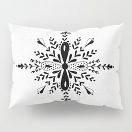 Winter in black and white - Snowflake Pillow Sham