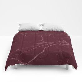 modern burgundy marble look Comforters