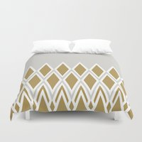 crown Duvet Covers featuring crown by lorelei art design