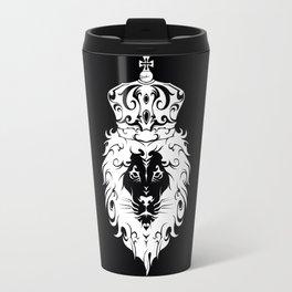 Tribal King White Lion Travel Mug
