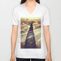 shadow V-neck T-shirts featuring Shadow by Jessica Morelli