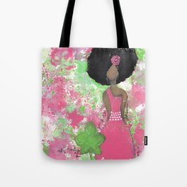 Dripping Pink and Green Angel Tote Bag