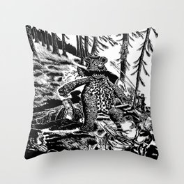 Bear Market Throw Pillow
