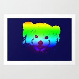 red panda poster Art Print
