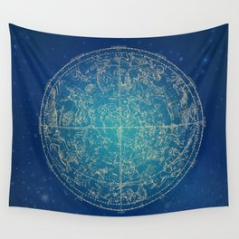 Zodiac and Stars Wall Tapestry