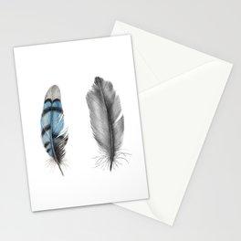 Blue Jay Feathers | Bird | Animal | Painting | Art | Animals Stationery Cards