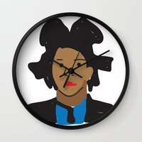 basquiat Wall Clocks featuring Basquiat by John Sailor