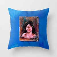 surrealism Throw Pillows featuring Surrealism by Crystal Lea Art