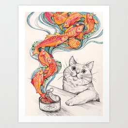 Wishes for Fishes Art Print