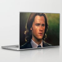 sam winchester Laptop & iPad Skins featuring Sam Winchester from Supernatural by Annike