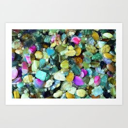 Colorful Gems Art Print