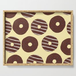 Chocolate doughnuts  Serving Tray