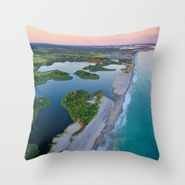 Trustom Pond National Wildlife Refuge and Rhode Island South Coast and Barrier Beaches Throw Pillow