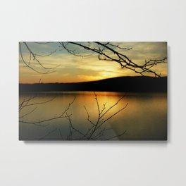 Sunset at Onota Lake (2) Metal Print