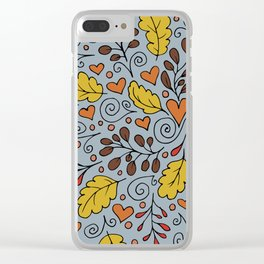 Leaves and Swirls Clear iPhone Case