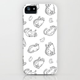 Black and White Cats Pattern iPhone Case