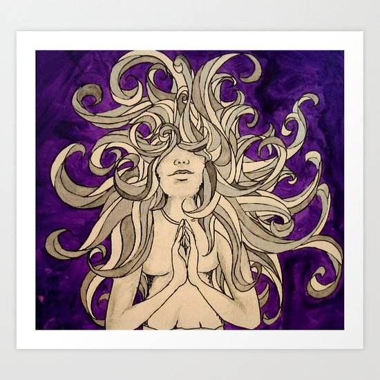 Medusa's Prayer  Art Print