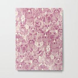 canadian animals cherry pearl Metal Print