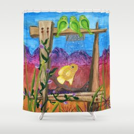 Desert Aquarium Shower Curtain