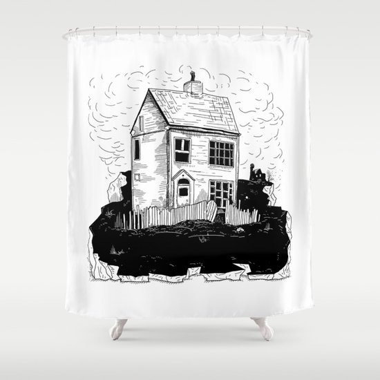 A House in Newfoundland Shower Curtain