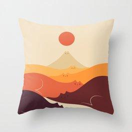 Cat Landscape 87 Throw Pillow
