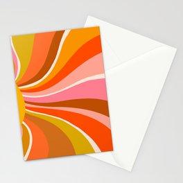 Sunshine Swirl – Retro Ochre Stationery Cards