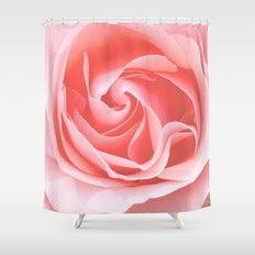 Velvet pink rose - Roses Flowers Flower Shower Curtain