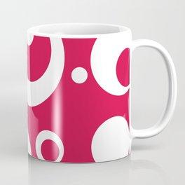 Circles Dots Bubbles :: Geranium Coffee Mug