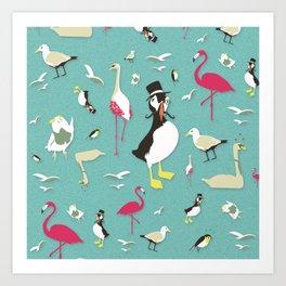 Party Birds - Pattern Art Print