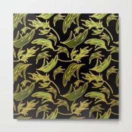 Cute Eucalyptus Leaves Print Metal Print