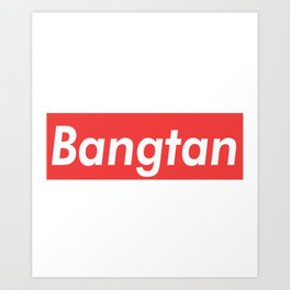 BTS Bangtan red Art Print