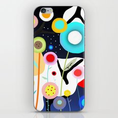 Night Meadow Black Branches Happy Circles iPhone & iPod Skin