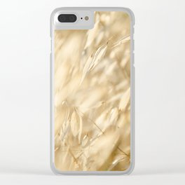 Soft Golden Field 2 Clear iPhone Case