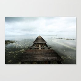 Faded planks Canvas Print