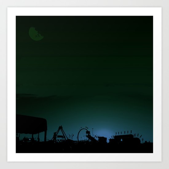 Bleeding Night Fair Art Print