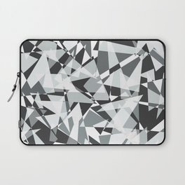 Gray-scale Triangle Scatter Laptop Sleeve